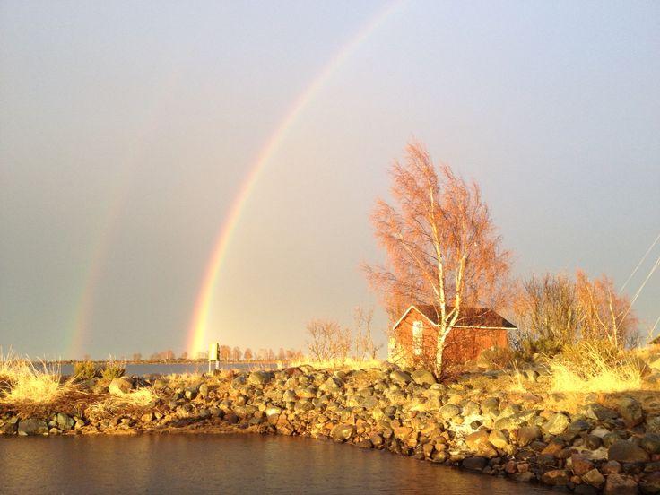 Little island,sauna and rainbow ☀️