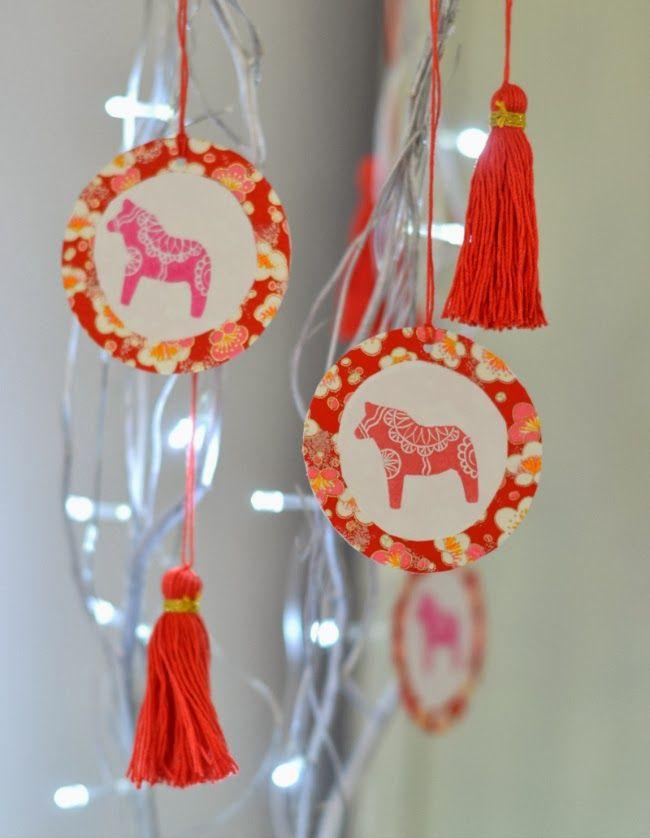 La Fabutineuse: DIY : décorations facile colorées pour un air léger de fête