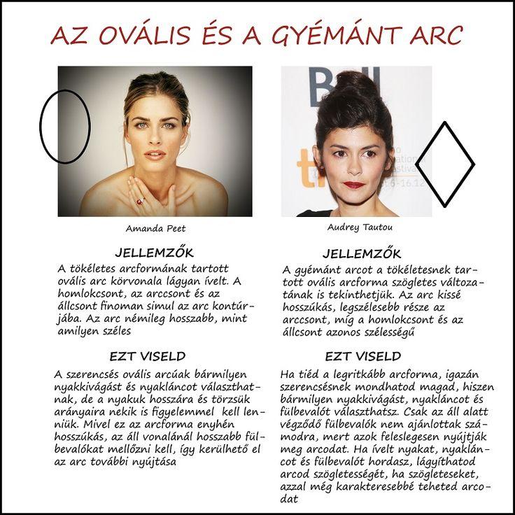 A hét arcforma, az ovális és a gyémánt arc / Ékszerválasztás arcforma szerint