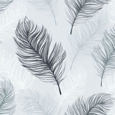 The combination of all these beautifully drawn oversized feathers creates a very contemporary black and white wallpaper that will suit any room of the  home. <BR>  <BR>Design Match: Offset<BR>Design Repeat: 53cm <BR>Roll length: 10.05m <BR> Roll width: 53cm<BR><BR>Co-ordinates perfectly with  Wilko paint. We love  Cosy  Grey and Moonlight White.