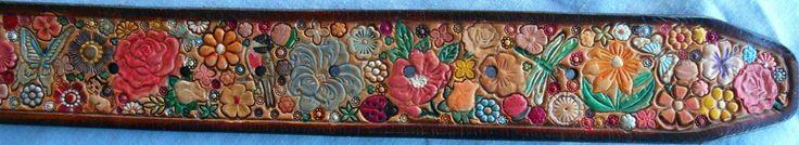 Flower Garden Belt Made in GA USA by galeatherlady on Etsy