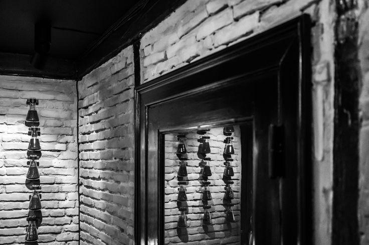 Crime Passionnel niche perfume boutique interior design. Brick walls.