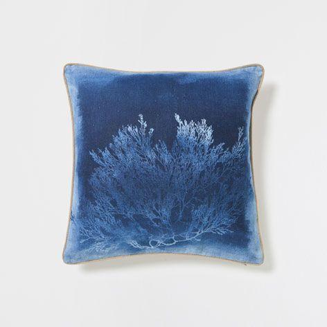 CORAL PRINT LINEN CUSHION - Cushions - Bedroom | Zara Home Hungary