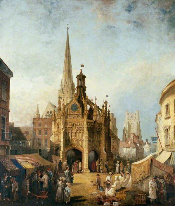 A View of Chichester Cross from East Street, Sussex by Henry Pether 1831 (Chichester City Council)