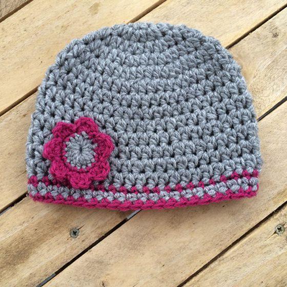 Bonnet bébé 1 crochet