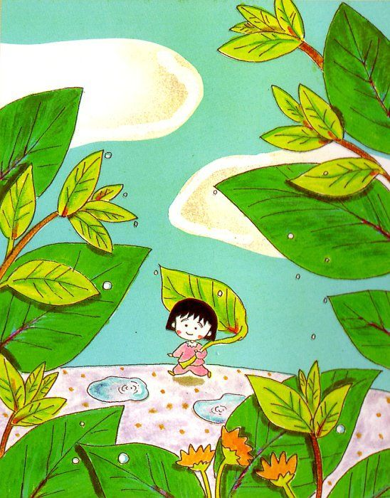 Ilustración Chibi Maruko Chan, comic japones manga y serie de dibujos animados ----- Illustration Chibi Maruko Chan, Japanese manga comic and cartoon series