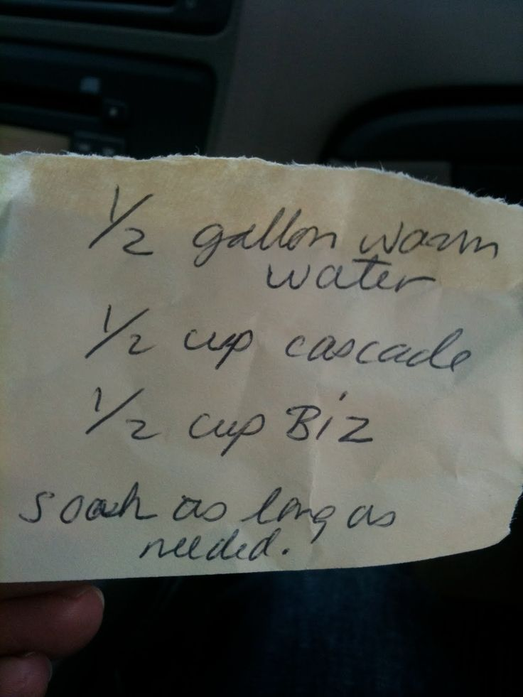 This is the magic recipe the ladies from the Garden Club gave me. If you run into some antique linens and want to make them look like new, here's your recipe. 1/2 gallon warm water, 1/2 cup cascade, 1/2 cup Biz, soak as long as needed.