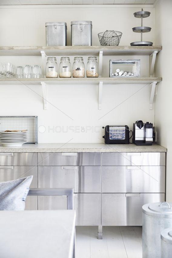 Stainless steel kitchen - restaurant style