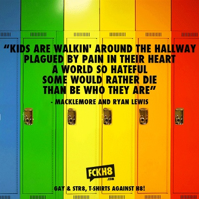 """We could start by instructing teachers to be as hard on students who use """"gay"""" or """"faggot"""" as insults as students who use words like """"n*igger"""" or """"p*aki* as insults. I even felt I had to bleep those words, but not the homophobic ones... I think it demonstrates the point"""