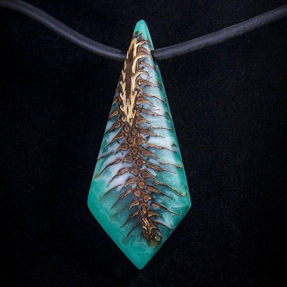 Handmade fir cone pendant
