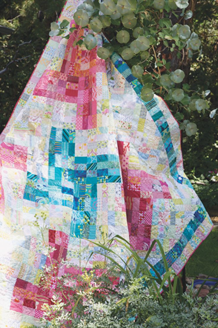 best modern and contemporary quilts images on pinterest  - one single patch repeated over and over creates this movementfilled designspinster quilt is