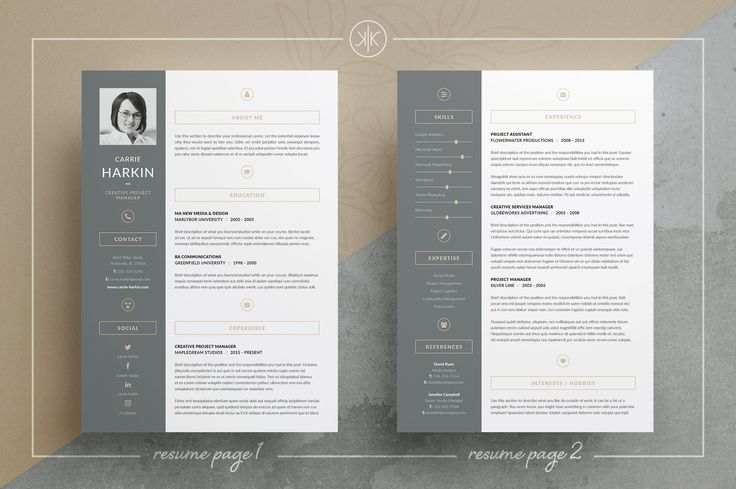 How to design a resume. Resume/CV | Carrie by Keke Resume Boutique on @creativemarket This template is fully editable and easy to customize in Microsoft Word. Anything in template can be removed if it's not necessary in your resume. You can also move and duplicate anything in the template. Don't like the original colors? You can also create your own color palette