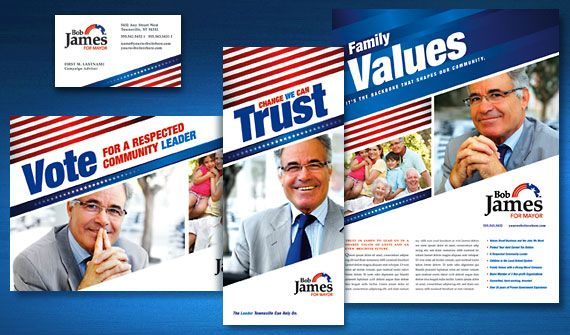 Color and Design theme AAF Pinterest – Election Brochure