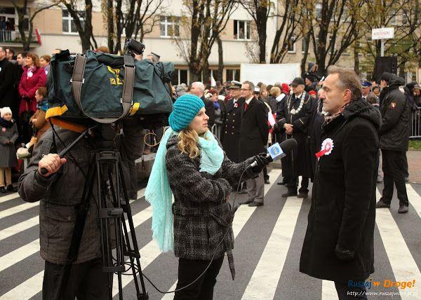 Wojciech #Szczurek udziela wywiadu telewizji TTM, #Gdynia, #Poland