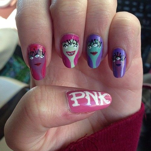 Monsters University Nails
