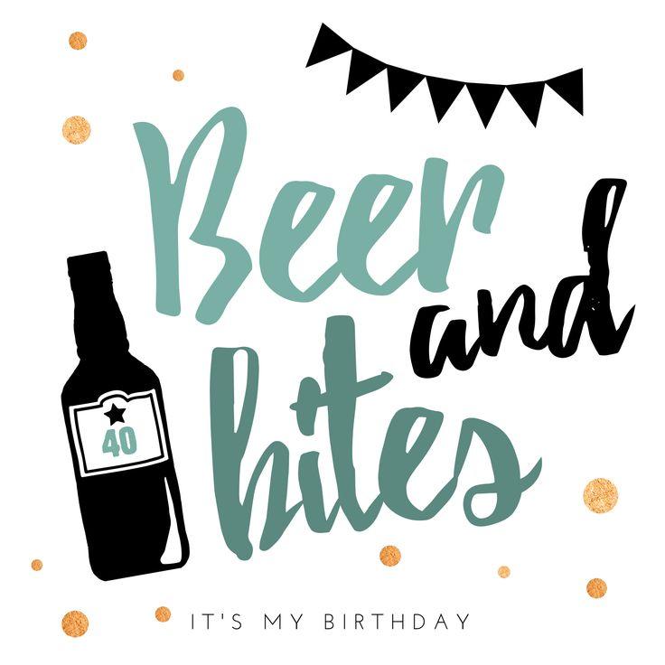#jarig #verjaardag #birthday #feest #uitnodiging #hipdesign #uitnodigingmaken #inventation #party #bier #borrel #mannen