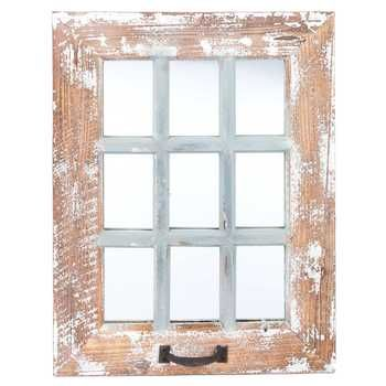 Get 9-Pane Antique Wood Wall Mirror online or find other Wall Mirrors products from HobbyLobby.com