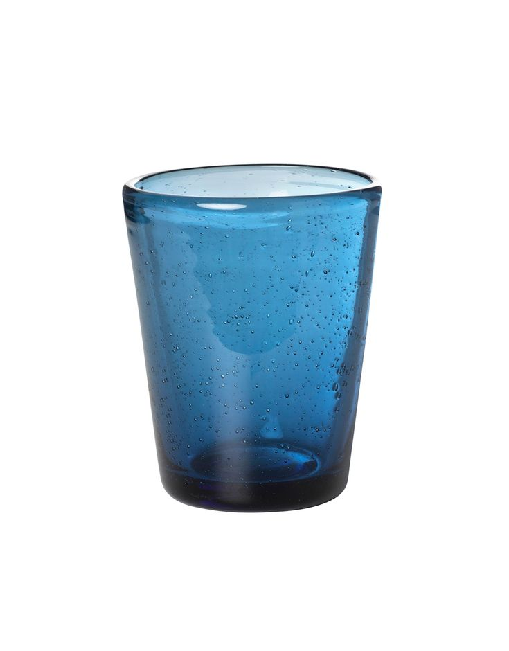 SAFTIS glass Mørk Blå | Drinkware | Glass | Glass & porselen | Home | Indiska.com