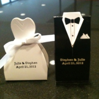 Memorable Wedding Gifts For Bride And Groom : Cute wedding gifts I am handing out at the hotel for a wedding party ...
