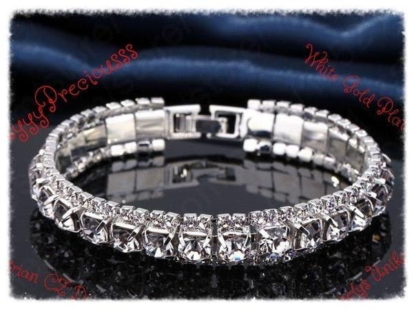 Bridal tennis BRACELET,Diamonds silver  from CamelysUnikatBijoux by DaWanda.com