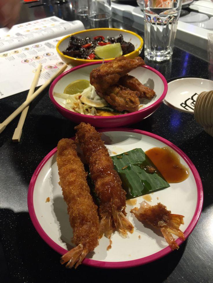 Shrimpin' and Chiken' it at Yo Sushi