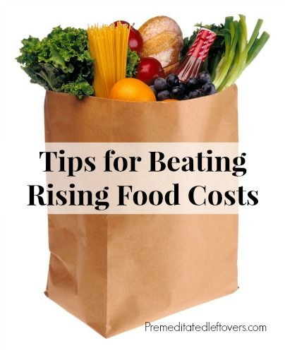 Tips for Beating Rising Food Costs - how to shop strategically and save money on groceries despite the rising costs of food.