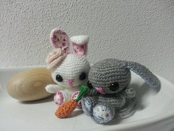 Conejito de pascua en amigurumi por Bicolino en Etsy