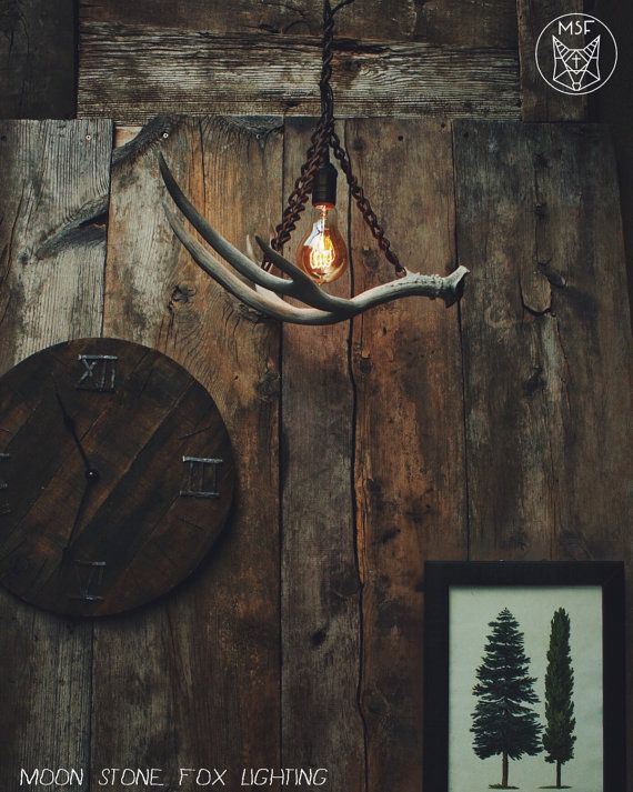 Antler Chandelier  Antler Pendant Light  Chain by MoonStoneFox