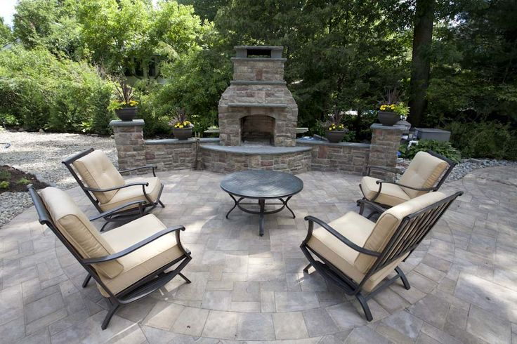 Entertain guest or just relax in front of this stone outdoor fireplace: Patio Design, Patio Fireplace, Custom Outdoor, Google Search, Fireplace Walkway, Outdoor Fireplaces