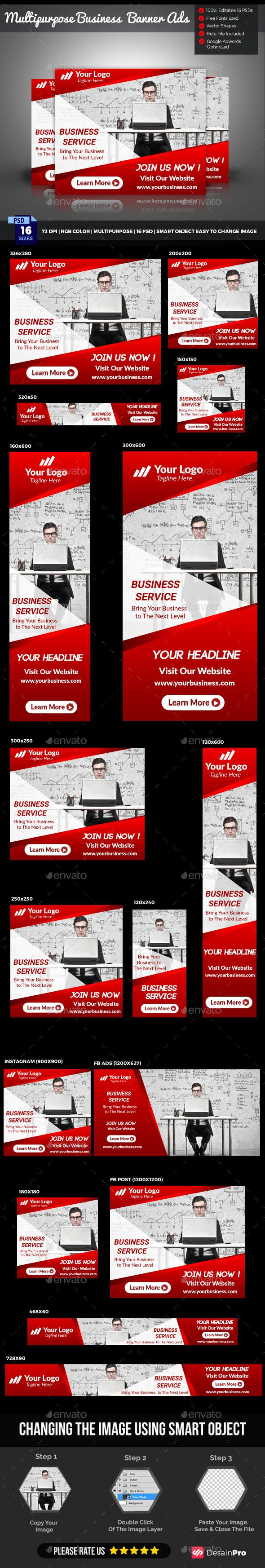 Business Banner Ads Template PSD