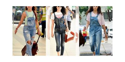 There's a new trend alert everybody! Bollywood celebrities have recently been spotted wearing dungarees at airports or for casual dinners!  Amrita Arora took the whole overalls look a notch higher by wearing a crop top, ripped denims and those cutesy sneaks!  And then, there are other celebrities too! Vote for your favourite look  itimes.com