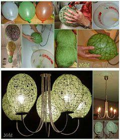 Que tal essa ideia fácil e barata que dá pra fazer em casa pra completar a decoração da sua festa...     Essas luminárias são de barban...