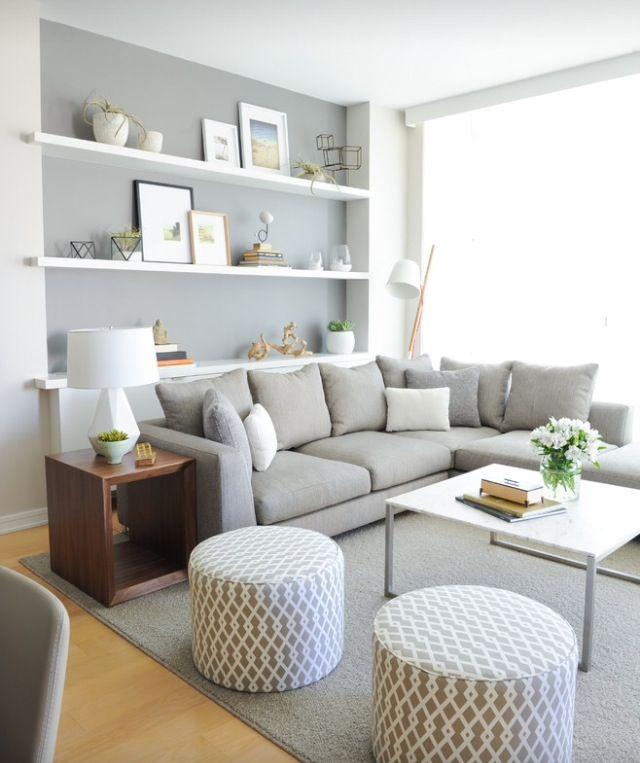 Living room idea - like the pouf/footstools