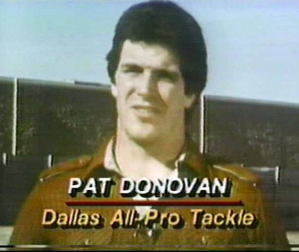 Offensive lineman PAT DONOVAN (67) on the NFL Today--January 4, 1981