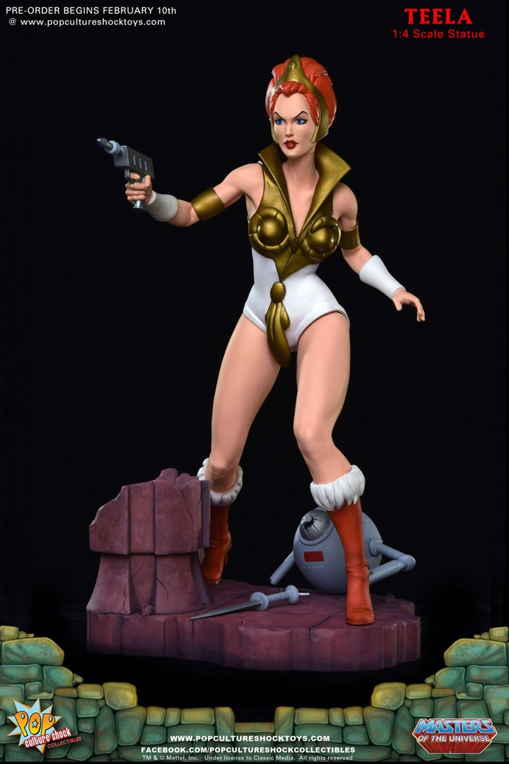 Masters of the universe teela 1 4 statue