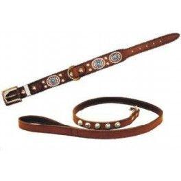 Oiled Fox Blu halsband Mooie lederen halsband.