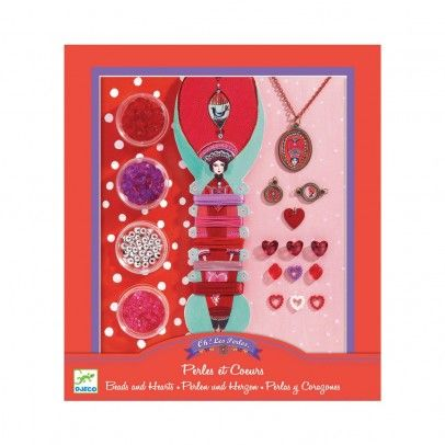 Djeco Pearls and hearts `One size Details : 4 Box(es) of beads, ribbon, Thread, 3 locket, Instruction Manual * Age : From 7 years old * 21 cm x 23 cm x 3 cm http://www.MightGet.com/january-2017-13/djeco-pearls-and-hearts-one-size.asp