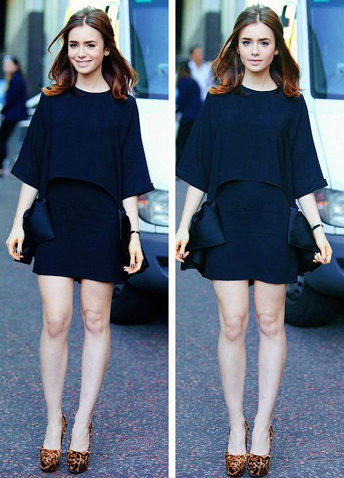 Lily Collins style. And the porcelain skin! GAH! <3