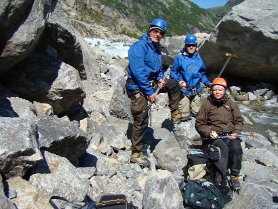 IJsklimmen Folgefonna gletsjer Noorwegen 2010