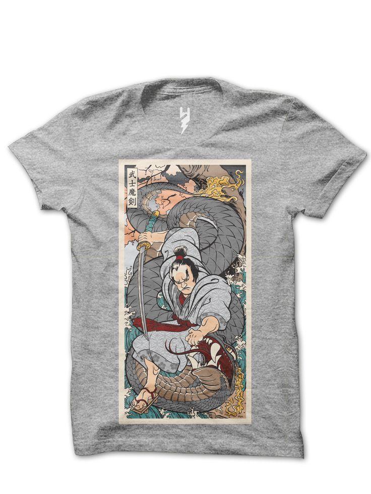 Samurai Jack from XTEAS  Follow Time Displaced Samurai Jack to defeat the tyrannical demonic wizard Aku. - Japanese Samurai Jack Tribute T-Shirt  Printed on 100% Organic Cotton, XTEAS Premium Tee.