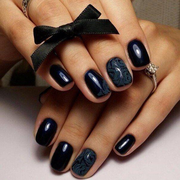 Дизайн ногтей черный цвет