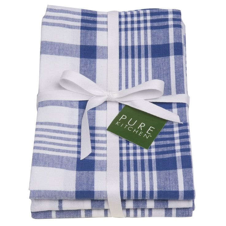 Now Designs Blue Jumbo Tea Towel Set