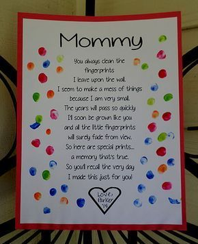 Mother's Day Fingerprint Poem