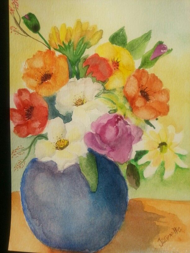 Flower Power- watercolour