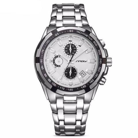 Men's Stainless Steel Fashion Watch - Blackgold,Silverblack,Silverblue  Waterproof  Luxury Fashion Affordable Stainless Steel Black Watches For Men Products Shops stores links website For Sale online Shopping buy AuhaShop.com