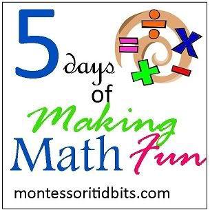 Montessori Tidbits: 5 Days of Making Math Fun: Must Have Manipulatives