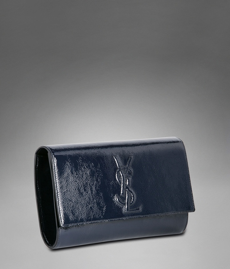 YSL Clutch :: Navy Blue Patent Leather | Fashion | Pinterest ...
