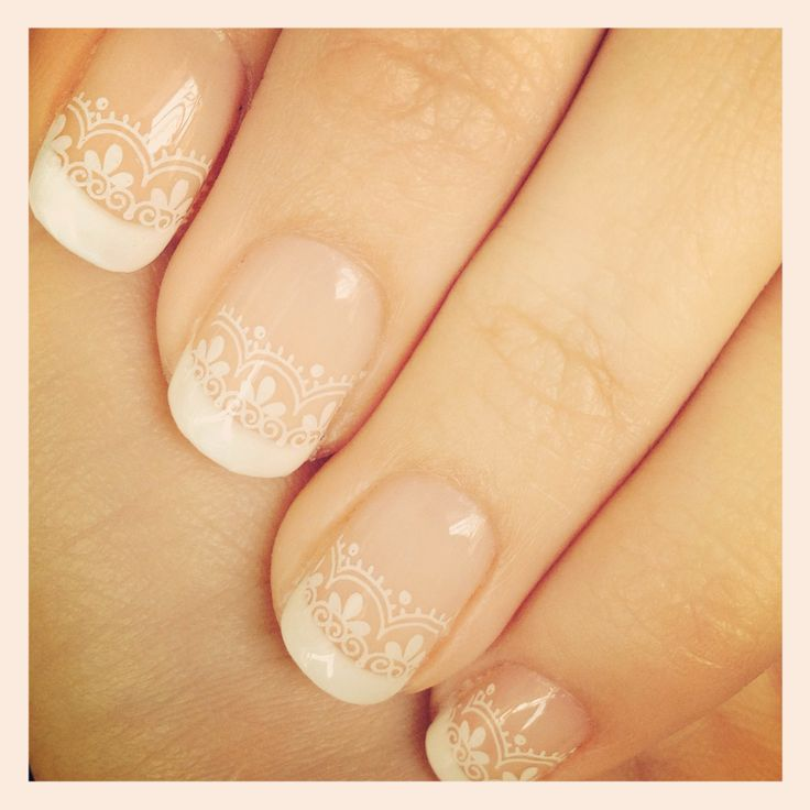 Wedding nails idea, lacey pattern may match the dress. Discover and share your nail design ideas on www.popmiss.com/nail-designs/
