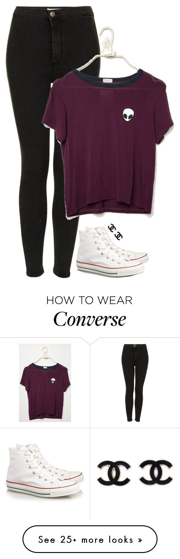 """We are the new Americana, raised on biggie and nirvana."" by meljordrum on Polyvore featuring Topshop and Converse"