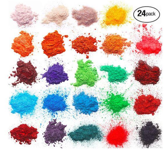 Soap Making Dye Make up Powder Dye Powdered Pigments Set 24 coloring